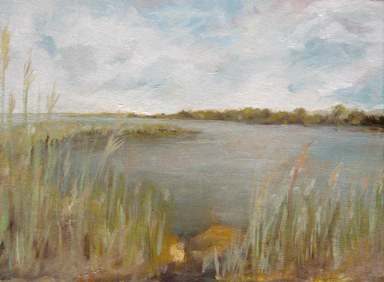 Matunuck Marsh oil on canvas 9x12
