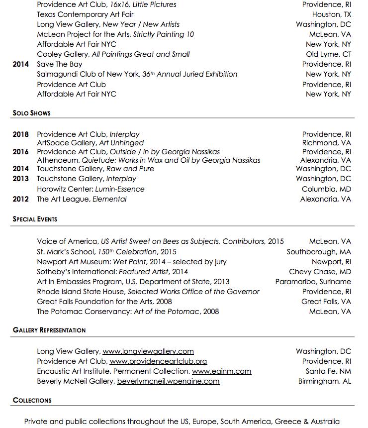 Georgia Nassikas Resume page 2